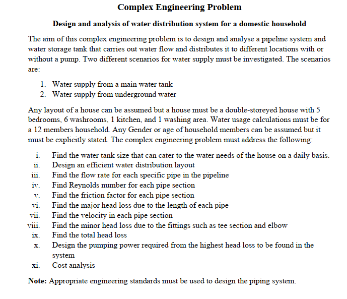 Complex Engineering Problem Design And Analysis Of Chegg Com