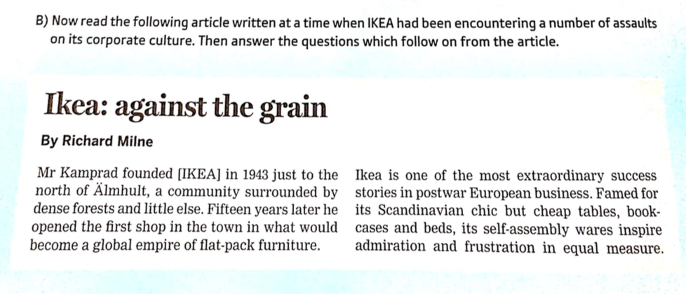 Ikea Case Study Questions And Answers - Process Book