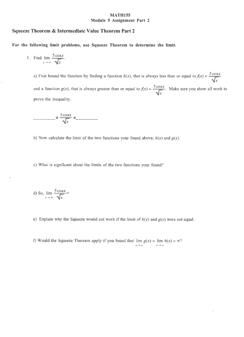 Composition of Functions - MATH
