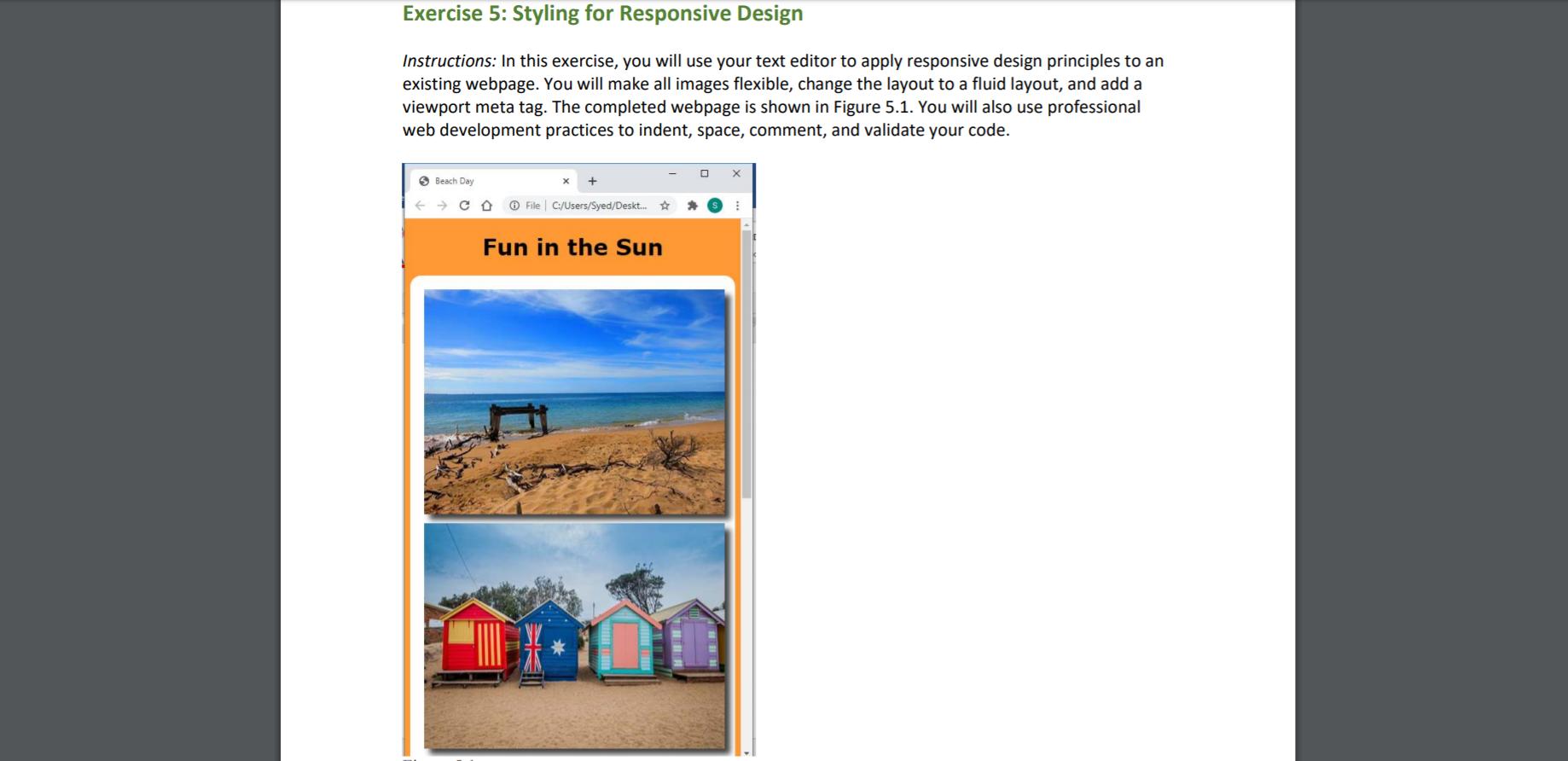 Exercise 5 Styling For Responsive Design Instruct Chegg Com