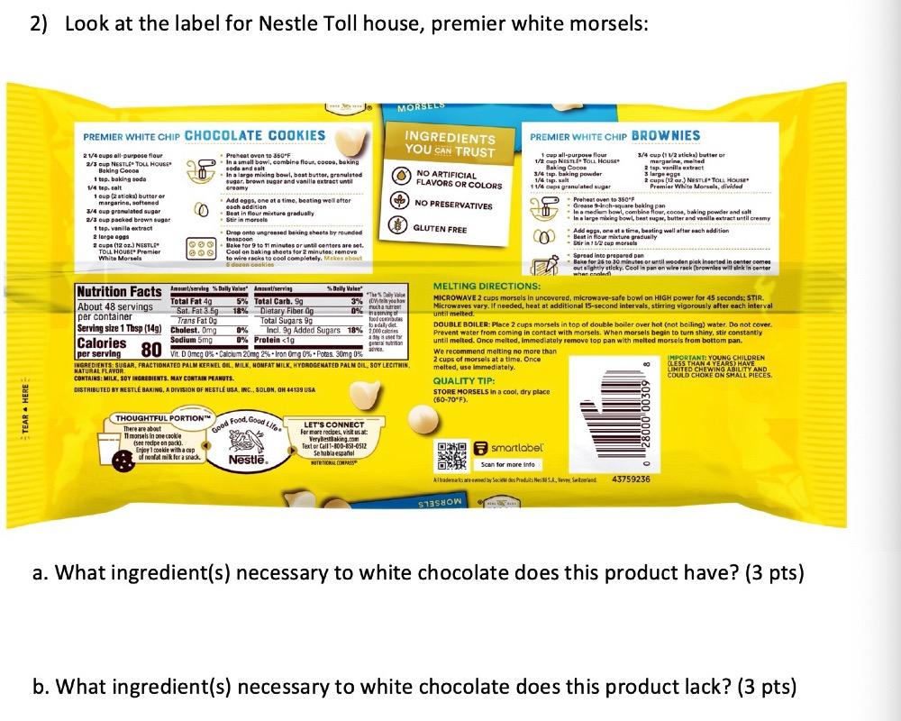 Nestle White Chocolate Chips Recipes