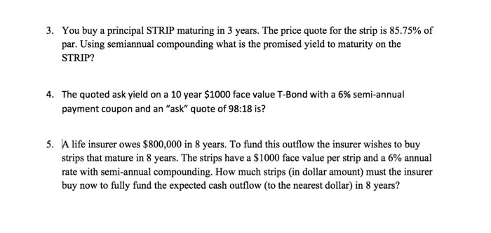 yield differences between coupon and principal strips