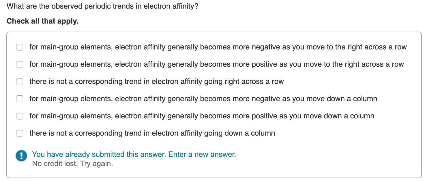 What Are The Observed Periodic Trends In Electron