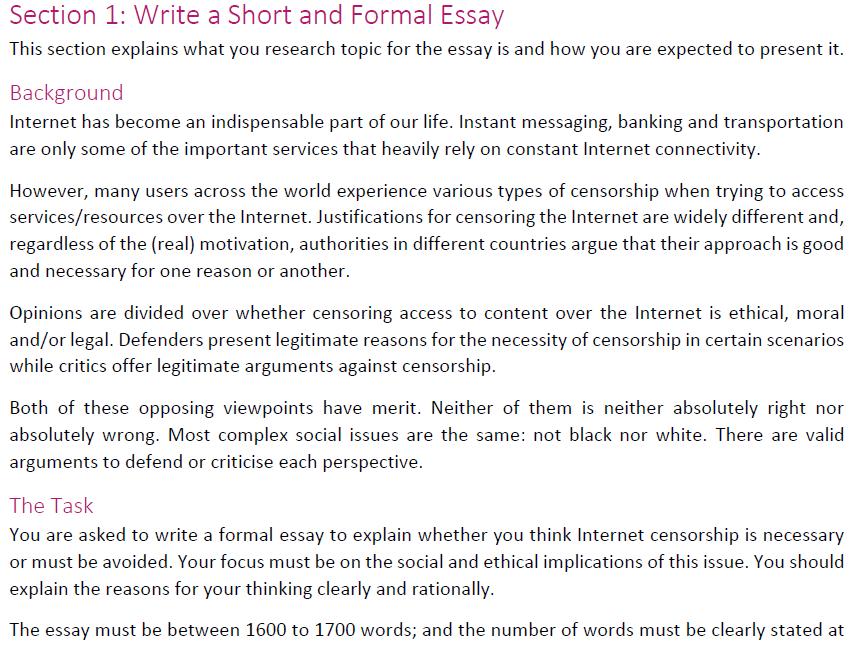 Perspective essay topics