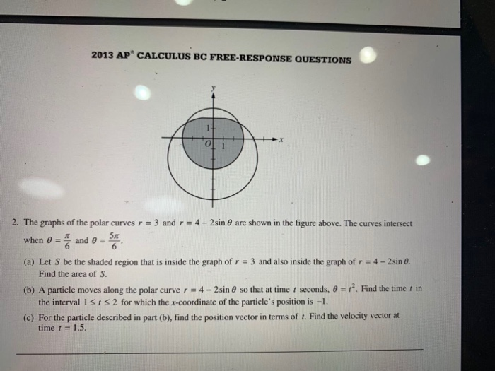 2013 ap calculus bc free response questions solutions