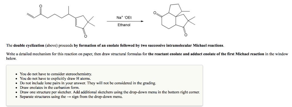 NatOEt Ethanol The Double Cyclization (above) Proc    | Chegg com