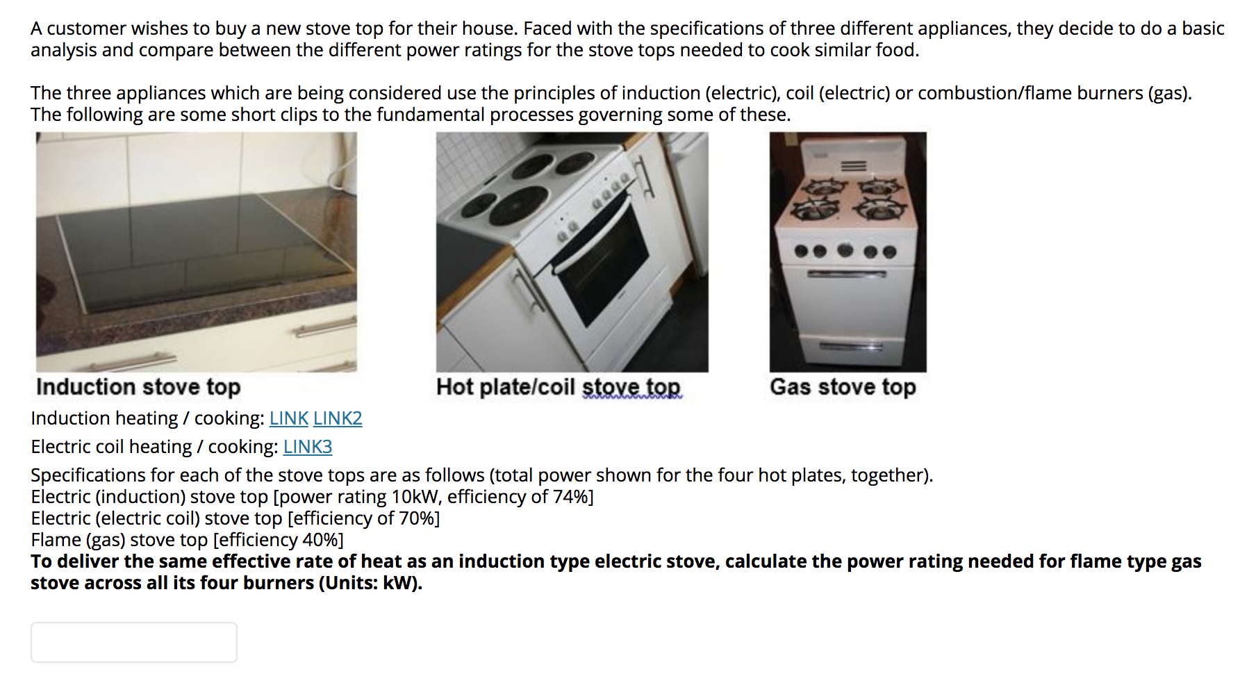 A Customer Wishes To Buy A New Stove Top For Their ...