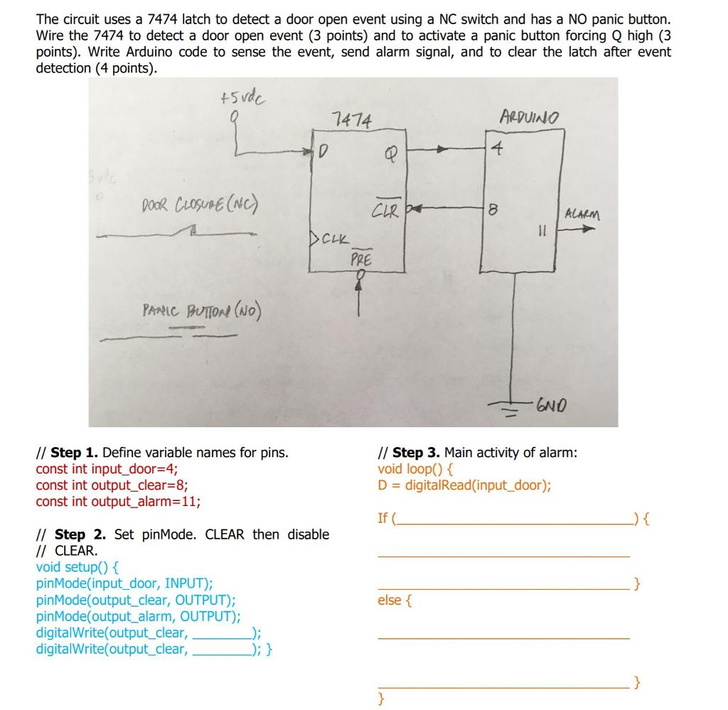 Wiring Diagram For Door Alarm