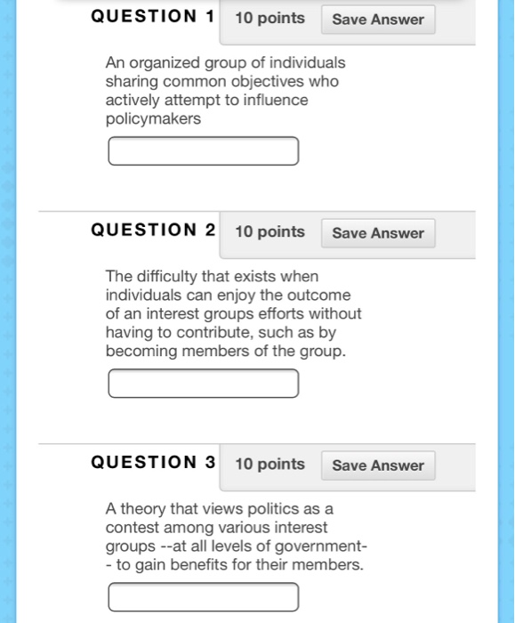 characteristics of interest groups
