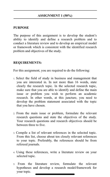 literature review questions examples