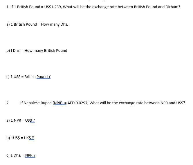If 1 British Pound Us 239