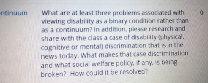 disability discrimination research paper