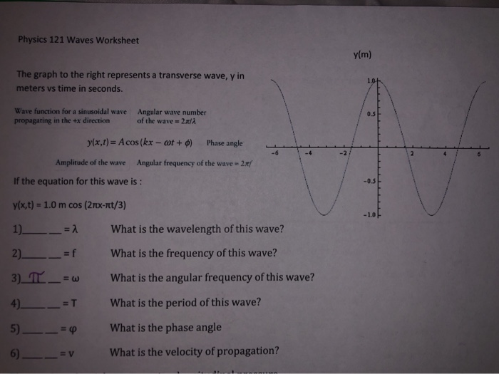 Physics Wave Worksheet Answers - Escolagersonalvesgui