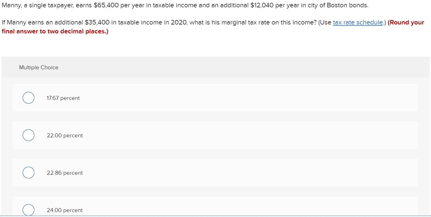 manny a single taxpayer earns $65 000)