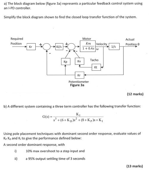 Solved: (a) The Block Diagram Below (fig 3a) Represents A ... | Chegg.comChegg