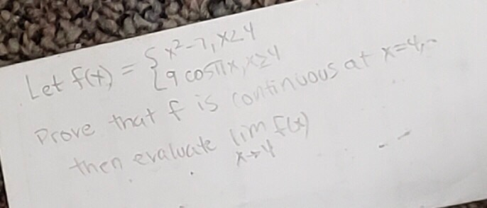 Let f 9 c0 Prove that f is ravitinuouS at X= then evaluate im