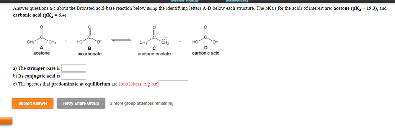 Solved: Answer Questions A-c About The Bronsted Acid-base