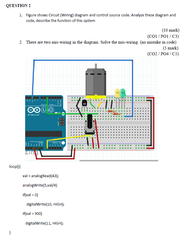 QUESTION 2 1. Figure Shows Circuit (Wiring) Diagra... | Chegg.comChegg