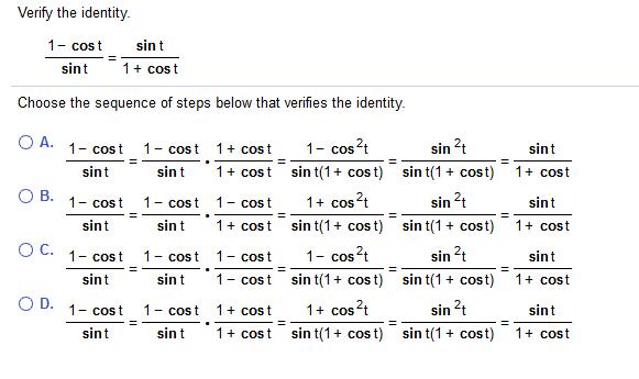 Sin t 1 cost sint 1 cost shadow s t