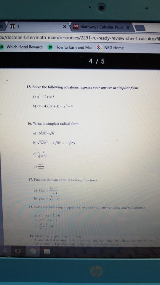 Solved: - TT1 M Mathway Calculus Prob X Lu/docman-lister/m ... on