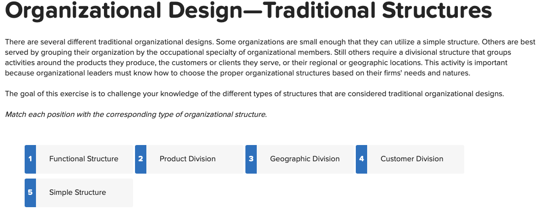 Solved Organizational Design Traditional Structures Ther Chegg Com