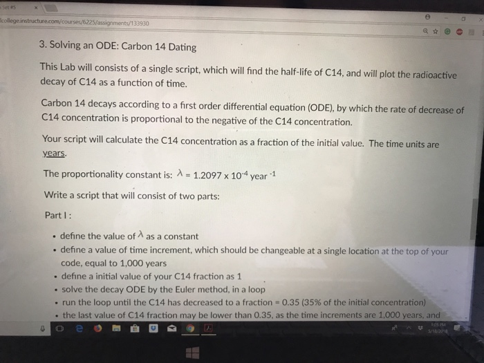 Carbon dating assignment