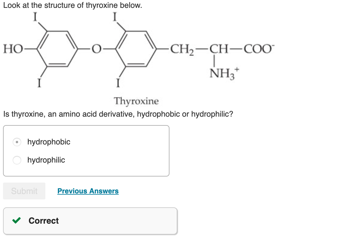 Solved Look At The Structure Of Thyroxine Below I Ho Ch2