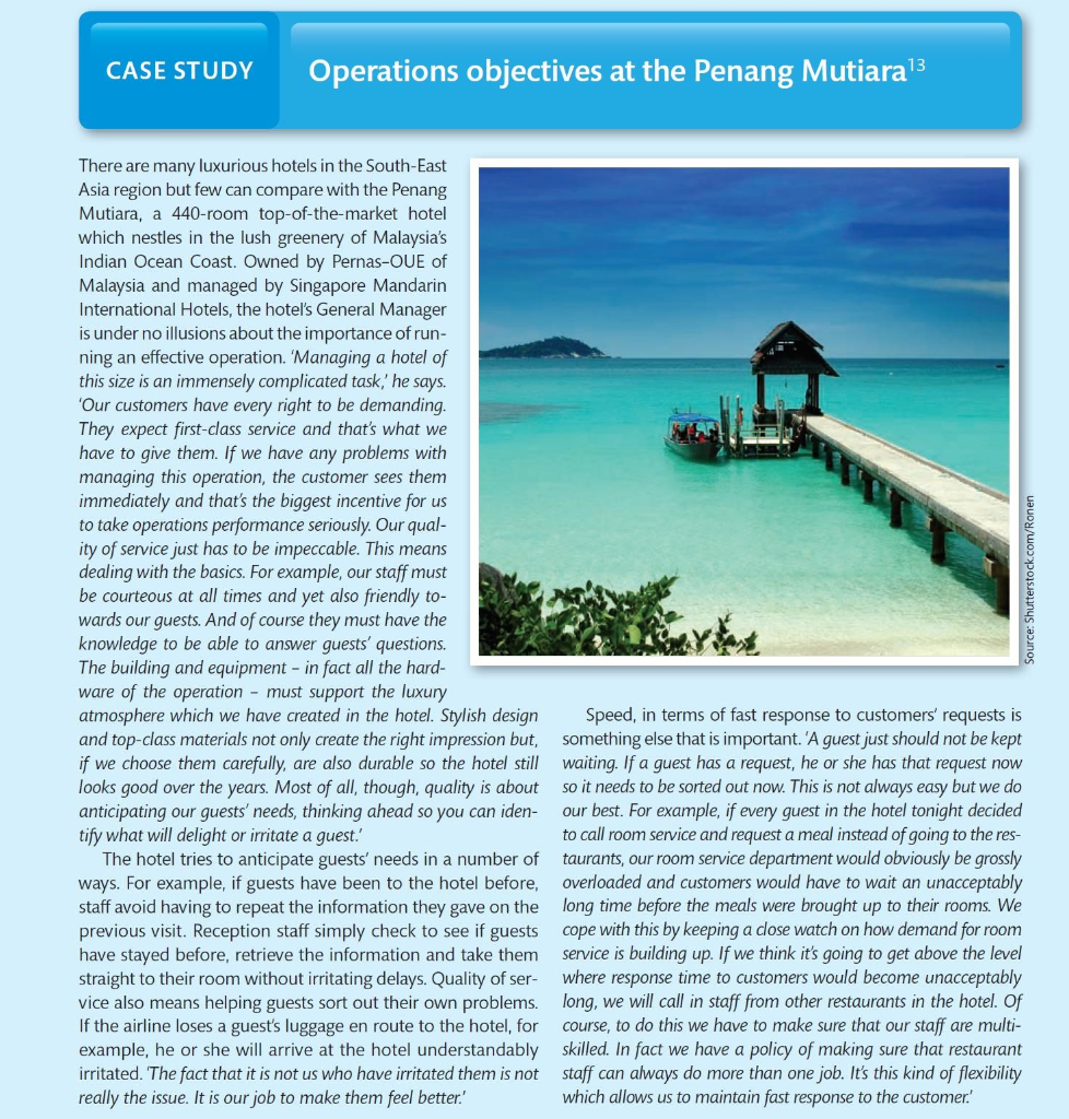 operational objectives at the penang mutiara case study answers