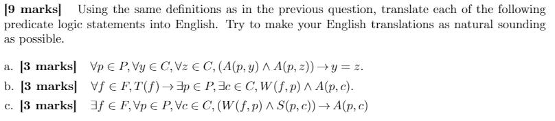Homework help predicate logic
