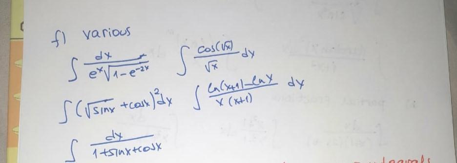 In(x411-lae dy لالے۔ f various serverez scosum ) Sci sinx tcasx) dx s la s X (x+1) 1 tsiuxtcoJx Jaamals