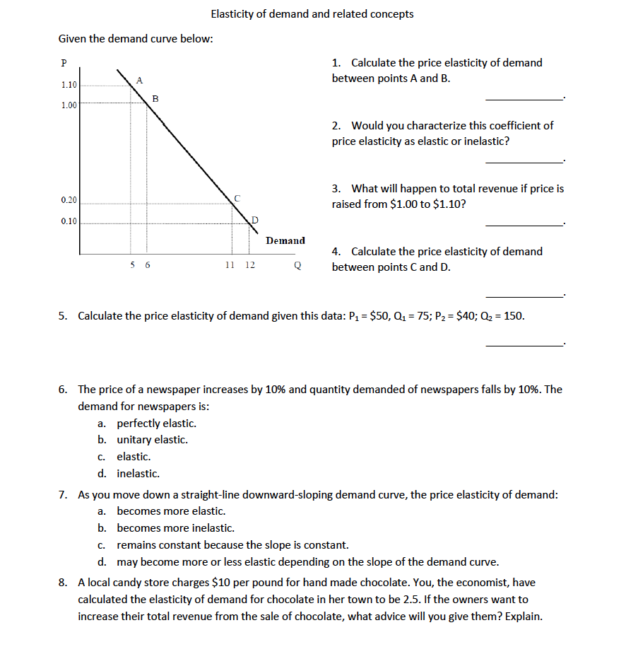 Questions On Income Elasticity Of Demand