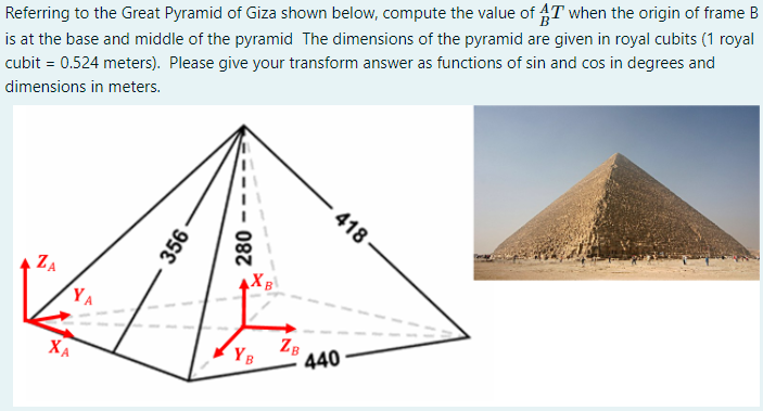 Referring to the Great Pyramid of Giza shown below, | Chegg.com