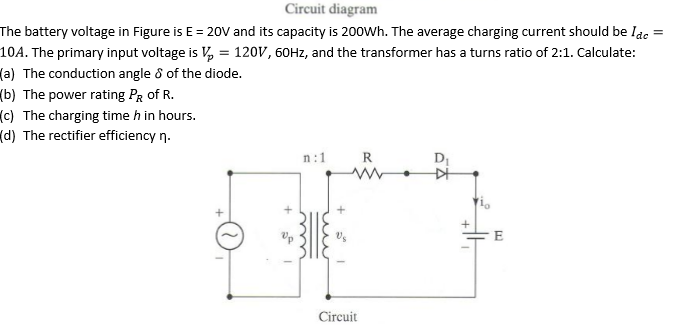 battery circuit diagram solved circuit diagram the battery voltage in figure is e li-ion battery charger circuit diagram circuit diagram the battery voltage