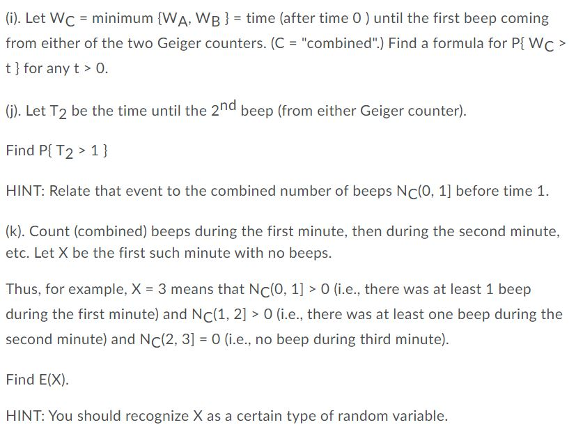 2 There Are Two Geiger Counters In A Physics Lab Chegg Com