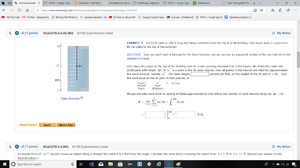 Solved: 6.4 Homcwork X NVCC : Single Sign Question 1 All P ... on