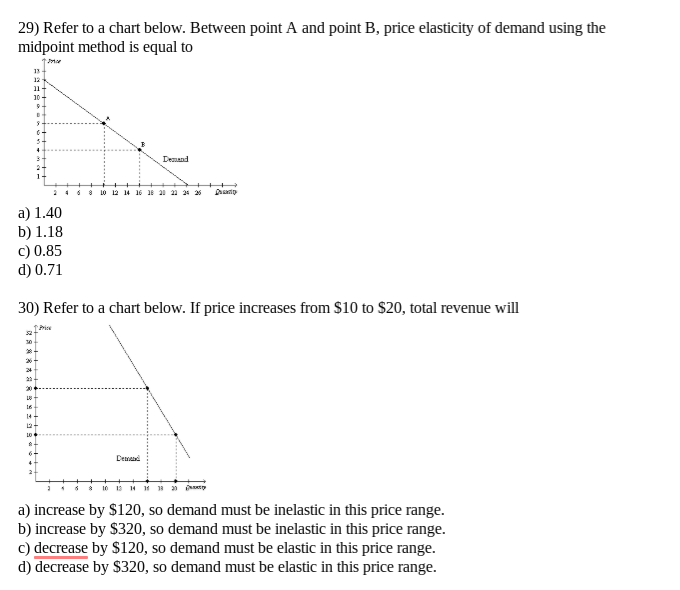 Solved 29 Refer To A Chart Below Between Point A And Po
