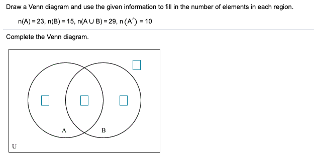Solved: Draw A Venn Diagram And Use The Given Information ... | Chegg.comChegg