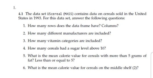 Solved: Please Help Answer This Question Using R  Data Set