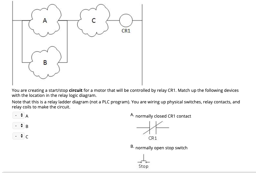 Solved: You Are Creating A Start/stop Circuit For A Motor ... on