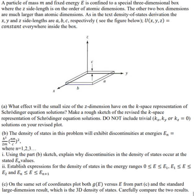 A Particle Of M And Fixed Energy E