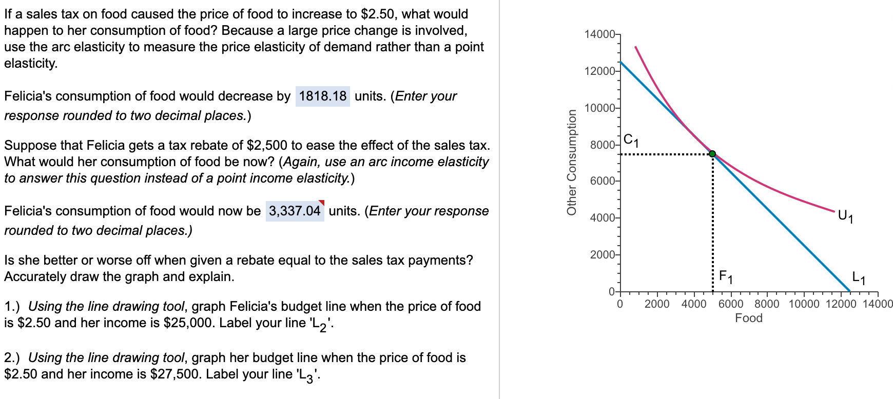 Solved Suppose The Income Elasticity Of Demand For Food I