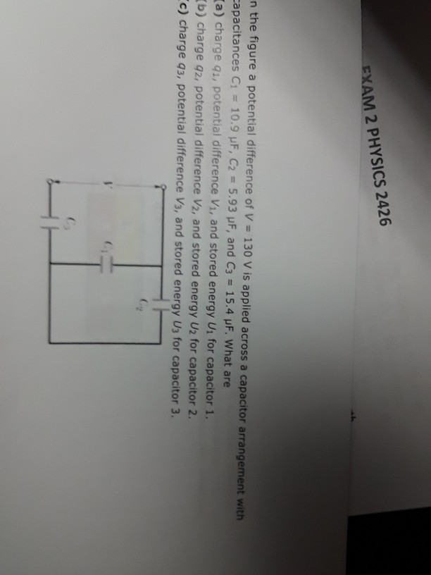 Solved: EXAM 2 PHYSICS 2426 In The Figure A Potential Diff