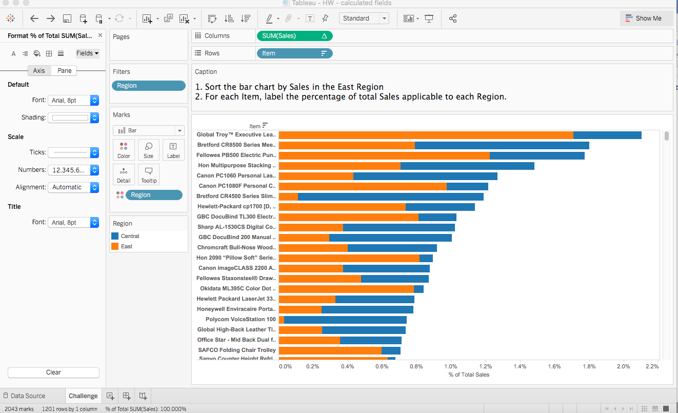 Solved Tableau Hw Calculated Fields Show Me G00 T Sta Chegg Com