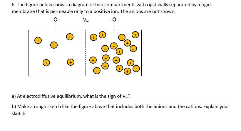 6. The Figure Below Shows A Diagram Of Two Compart ... A Diagram on