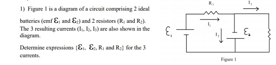 1) Figure 1 Is A Diagram Of A Circuit Comprising 2 ... on