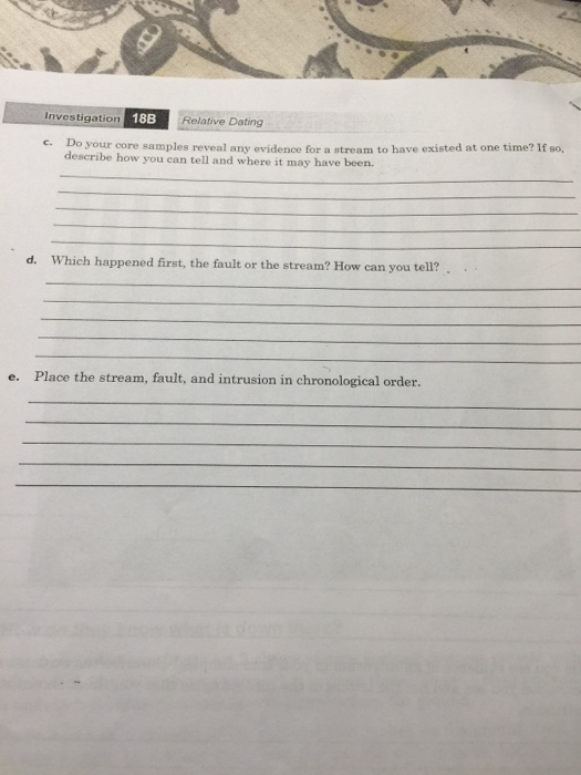 18b relative dating answers