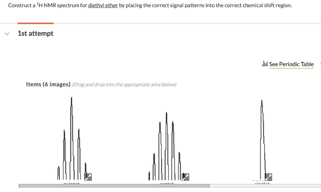 Solved Construct A 1h Nmr Spectrum For Diethyl Ether By P
