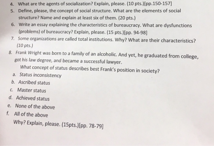 The family as an agent of socialization essay
