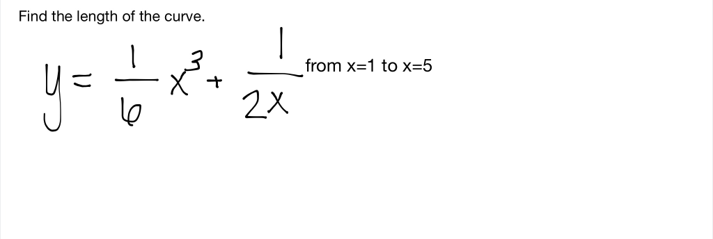 Find the length of the curve. from x 1 to x=5 y- 2X