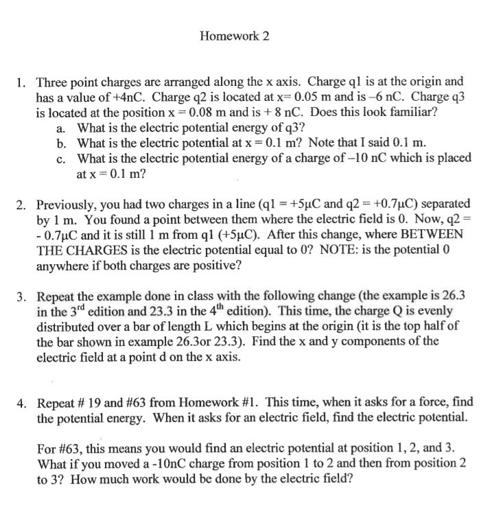 physics homework #63